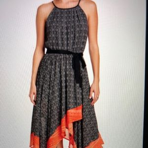 Sanctuary coral/black handkerchief dress